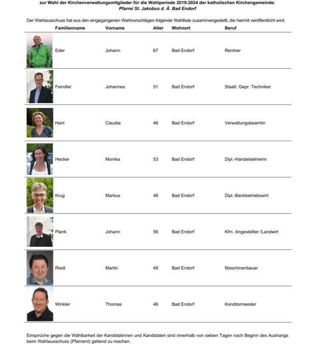 Kirchenverwaltungs-Wahl 2018
