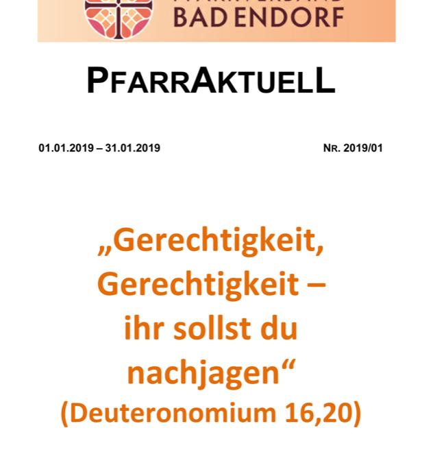 PfarrAktuell 1/2019