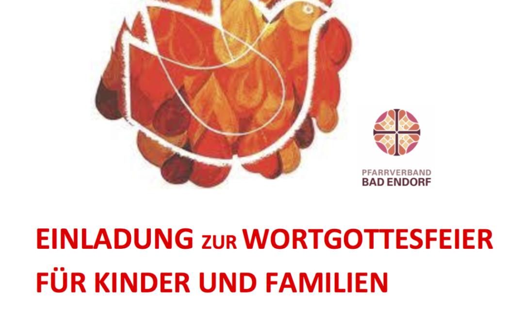 EINLADUNG ZUR WORTGOTTESFEIER FÜR KINDER UND FAMILIEN