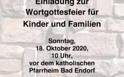 Kindergottesdienst am 18.10.2020