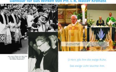 Dankbar für das Wirken von Pfr. i. R. Walter Kronast